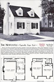 Cape Cod 4 Bedroom House Plans The New Castle Kit House Floor Plan Made By The Aladdin Company In