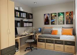 Bedroom  Home Decor Small  Bedroom Wooden Storage Bed - Bedroom furniture solutions