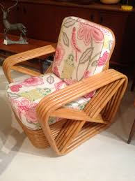 hollywood cane rattan bamboo chair in warwick fabrics by found