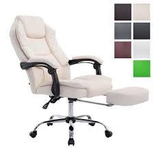 pied fauteuil bureau clp fauteuil bureau ergonomique castle fauteuil relax avec repose