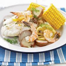 Seafood Recipes For Entertaining Martha by Grilled New England Seafood
