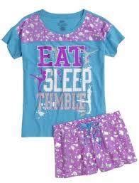 gymnast pajama set pajamas pjs bras shop