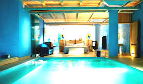 bedroom decorating ideas elegant turquoise color wall paint and