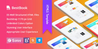 html5 templates for books bestbook book author marketers landing page html5 template by