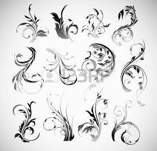 vector ornament flowers vintage design elements royalty free