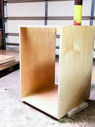 how to build base cabinets out of plywood build your own cabinets without expensive tools houseful