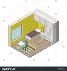 illustration interior children room isometric view stock vector illustration of the interior of children room isometric view