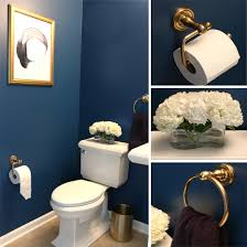 Navy Blue And White Bathroom by Dark Elegant Bathroom With Gold Accents Bathroom Ideas