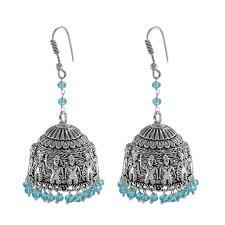 jhumka earrings uk silvesto india indian beautiful handmade oxidized jhumka earrings