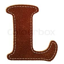 leather alphabet leather textured letter l stock vector colourbox