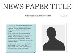 templates clipart newspaper layout pencil and in color templates