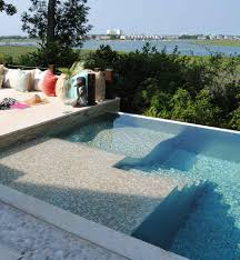 Outdoor Cushions Pool Patio Hardscape Pool Contemporary With Stone Pool Trim
