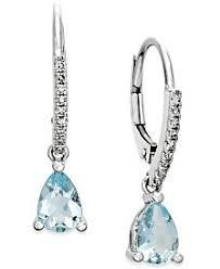 aquamarine drop earrings aquamarine earrings shop aquamarine earrings macy s