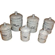 graniteware canister set 6 snow on the mountain enamelware from graniteware canister set 6 snow on the mountain enamelware cannisters vintage enamelware graniteware kitchen sets