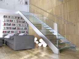 Glass Stairs Design Indoor Stainless Steel Glass Staircase Design With Rubber Wood