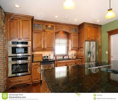 upscale kitchen cabinets custom upscale kitchen cabinets stock image image of doors