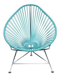 Modern Patio Lounge Chair Amazon Com Innit Designs Acapulco Chair Blue Weave On Chrome