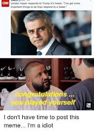 Meme London - enn london mayor responds to trump jr s tweet i ve got more