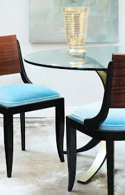 art deco period dining chairs set six jean marc fray