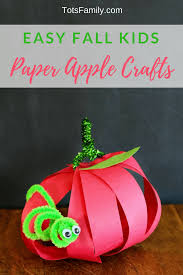 easy fall kids paper apple crafts