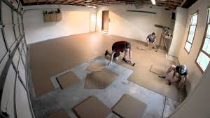 Vinyl Floor Basement How To Install Flex Tiles Garage Flooring Inc Youtube