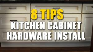 Installing Hardware On Kitchen Cabinets Cabinet Knobs And Pulls 8 Important Installing Tips Youtube