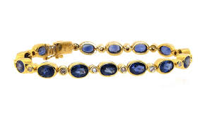 sapphire bracelet with diamonds images Fine estate bracelets estate bracelet jewelry gold bracelets jpg