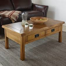 Solid Oak Coffee Table Original Rustic Solid Oak 4 Drawer Storage Coffee Table Coffee