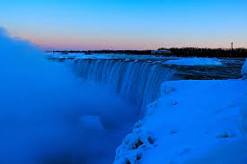 photo gallery frozen niagara falls sunset u2013 u0026
