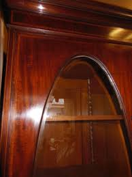 Wohnzimmerschrank Mahagoni Kompaktschrank Jugendstil Vitrinenschrank Mahagoni Wurzelholz Um