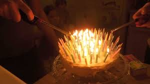 lighting and blowing out 100 birthday candles youtube