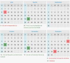 Calendario 2018 Argentina Ministerio Interior Feriados Y Fin De Semana Largo En 2018 Transito Argentina