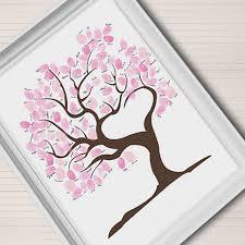aliexpress com buy wedding fingerprint tree guest book