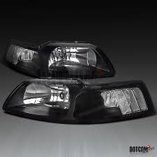 1999 Black Mustang 99 04 Ford Mustang Black Headlights Clear Corners Ebay