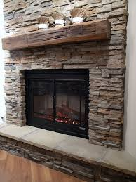 Best  Stacked Stone Fireplaces Ideas On Pinterest Stacked - Layered stone backsplash