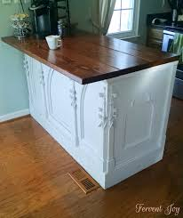 altar kitchen island archives fervent joy to complete our altar kitchen island we decided to give it a butcher block countertop we have a lot of granite in our kitchen so we thought the wood would