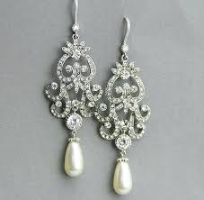 bridal chandelier earrings chandelier pearl earrings for wedding pearl bridal chandelier