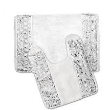 Silver Bathroom Rugs Luxury Bathroom Rug And Contour Rug Set Or Separates Bath And