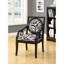 zebra accent chairs in high wooden legs without arm over varnished