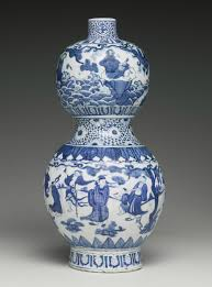 28 Light Blue And White A Blue And White Double Gourd Vase Ming Dynasty Jiajing Period