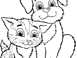 download coloring pages of dogs and cats
