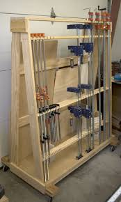 Tool Storage Shelves Woodworking Plan by The Runnerduck Wood Clamp Rack Plan Is Step By Step Instructions