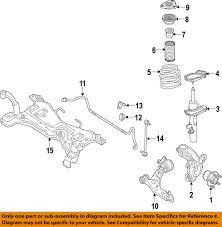 ford focus suspension diagram ford motorcraft mef309 oem 2012 2016 stabilizer sway bar front