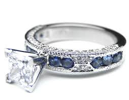princess engagement rings engagement ring princess cut vintage engagement ring blue