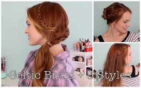 traditional scottish hairstyles celtic braid and 3 ways to style it youtube