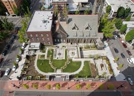 first presbyterian church hennebery eddy architecture firm first presbyterian church urban garden parking structure