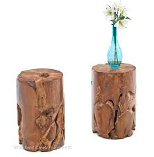 Wood Accent Table Organic Wood Side Tables Natural Wood End Tables Contemporary