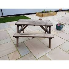 fortem 4ft traditional pub style picnic bench table garden patio