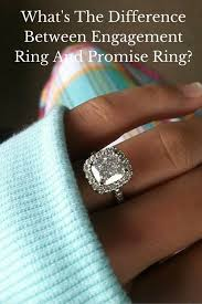 what is an engagement ring promise ring vs engagement ring