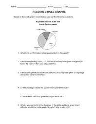 data management worksheet circle graphs questions